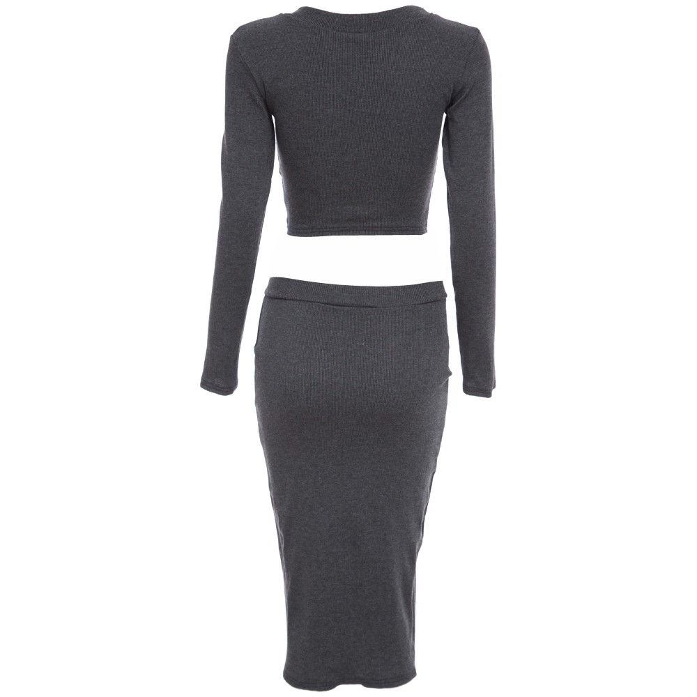 MATTY M  Knitted Lined Jersey Stretch Pencil Skirt w//Elastic Waist Black /& White