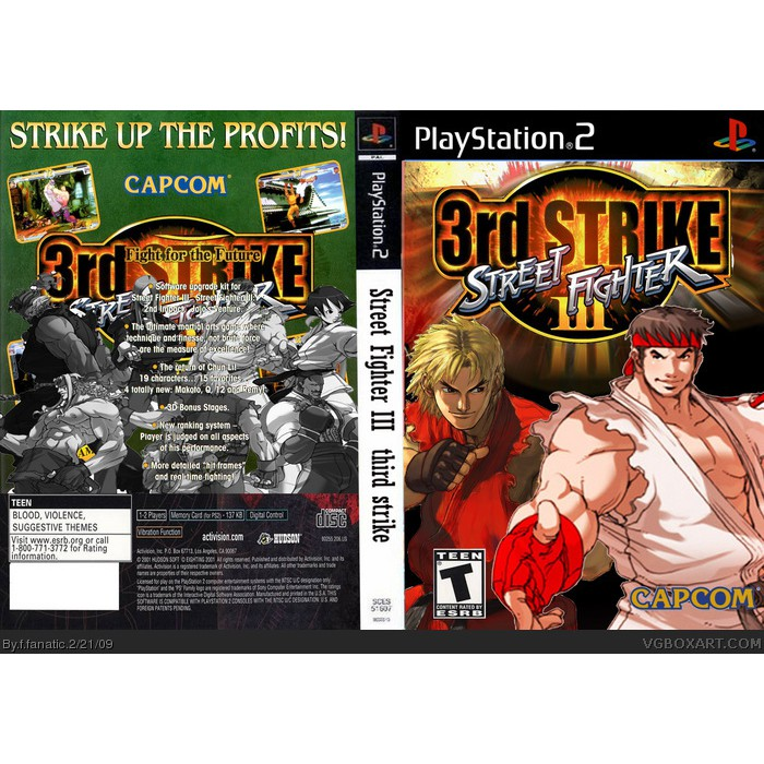 Ps2 Street Fighter 3 3rd Strike Fight For The Future Shopee Malaysia