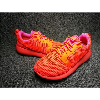 super popular 6a57d 52bee original nike roshe run one hyp all red mesh breathable for women running  shoes