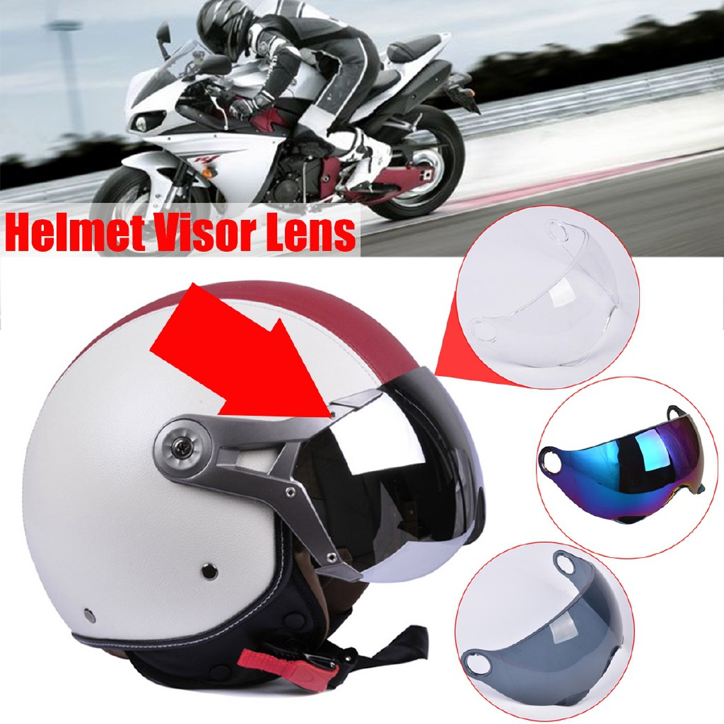Motorcycle Clear//Smoke//Rainbow PC Helmet Face Shield Visor Lens For GXT M11