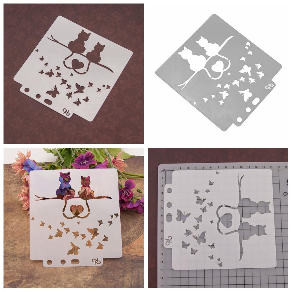 7pcs bow cutting dies stencil scrapbook album paper embossing craft DIY Pi/_sg