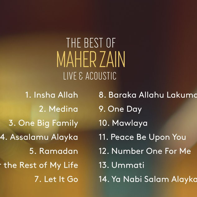 CD The Best of Maher Zain (Live & Acoustic)