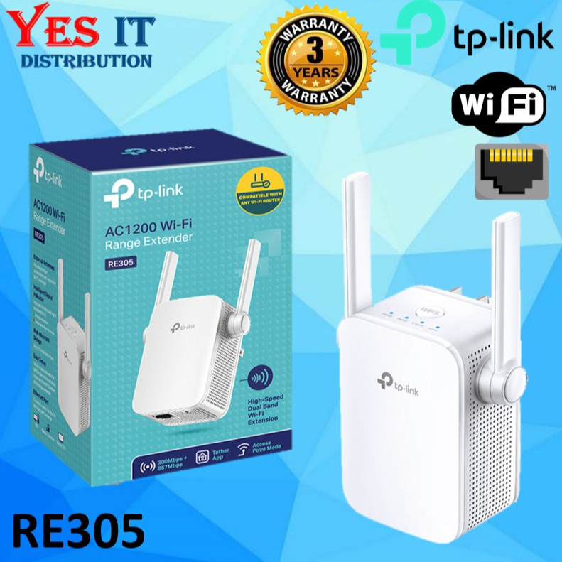 TP-LINK RE305 AC1200 Wireless Dual Band Extender WiFi Booster Repeater