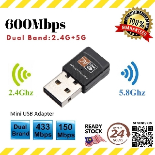 Support Multiple BSSIDs USB WiFi Adapter Lower Latency 2.4GHz-2.4835GHz Frequency High Speed Network Card Adapter for Windows Vista//XP // 2000//7 // Linux