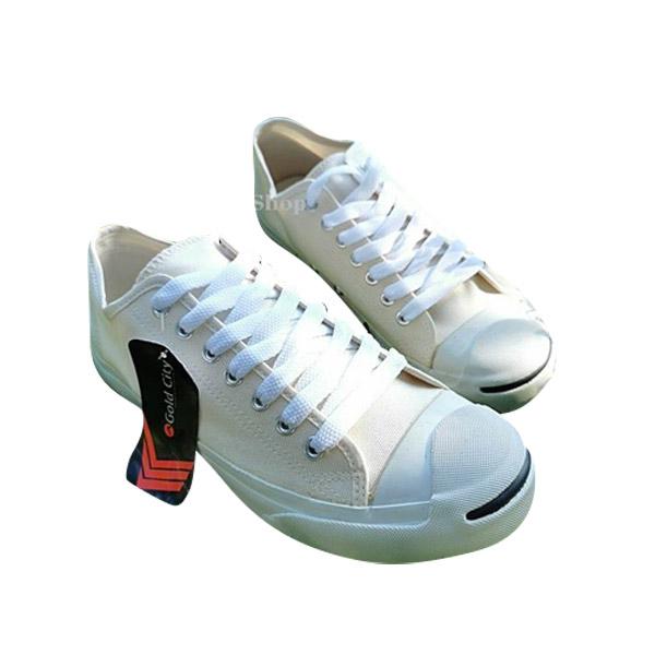 Jack-Gold Cityรองเท้าผ้าใบพื้นนุ่มใส่ทน! มี 5 สี ขาว ดำ กรม ครีม ดำดำ Size37-44