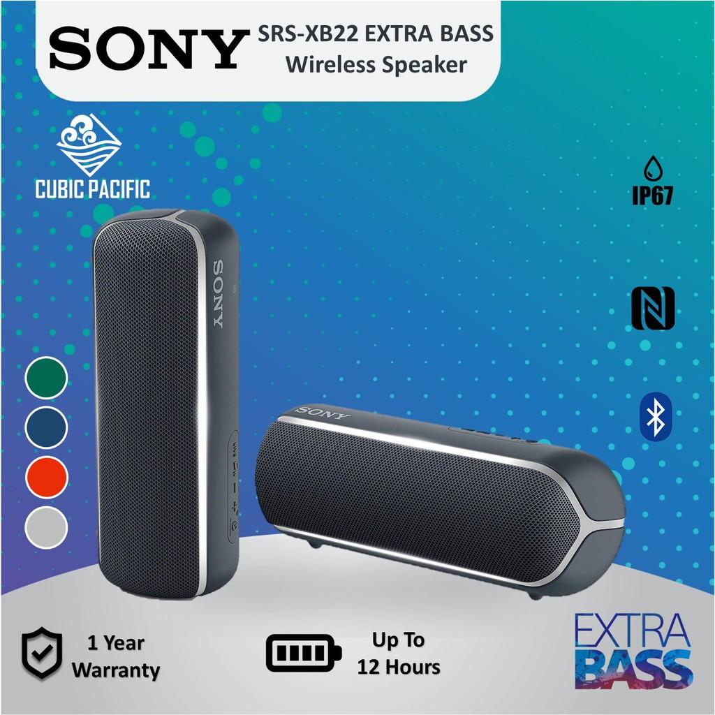 Sony Srsxb22 B Portable Wireless Bluetooth Speaker Water Proof Blue Ebay