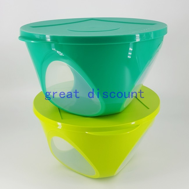 Tupperware Outdoor Dining Emerald Bowl 4.3L Green ( Set of 2 )