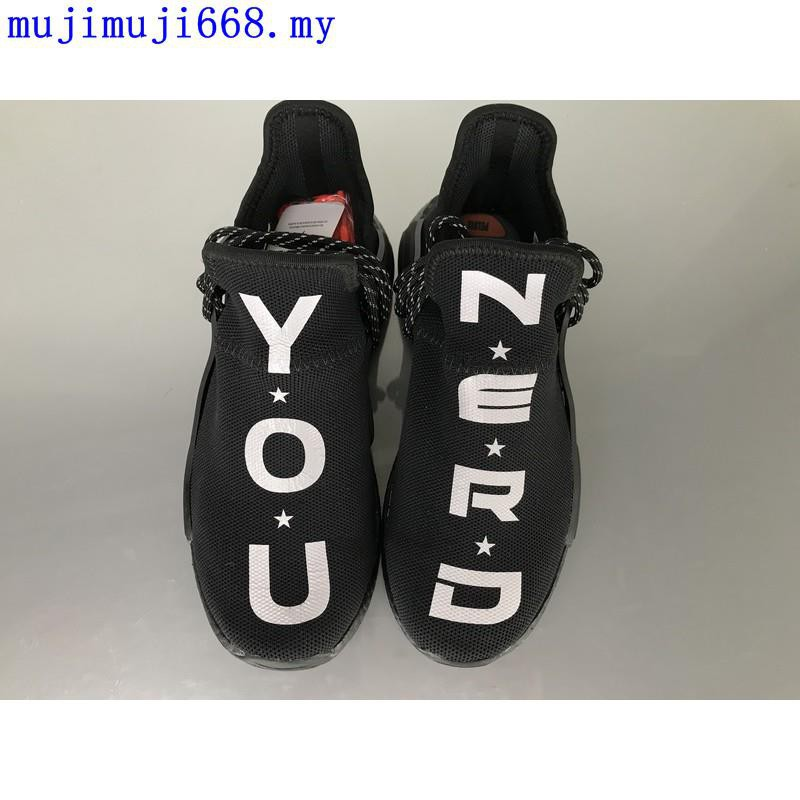 online retailer 0c941 4d913 Adidas NMD Boost Human Race Fei Dong Joint All Black Couple Shoes BB7603  Lightwe