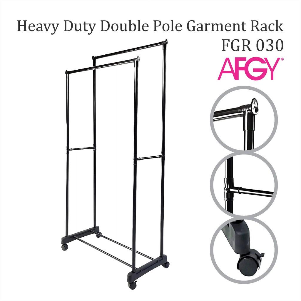 FGR 030 Heavy Duty Double Pole Garment Rack