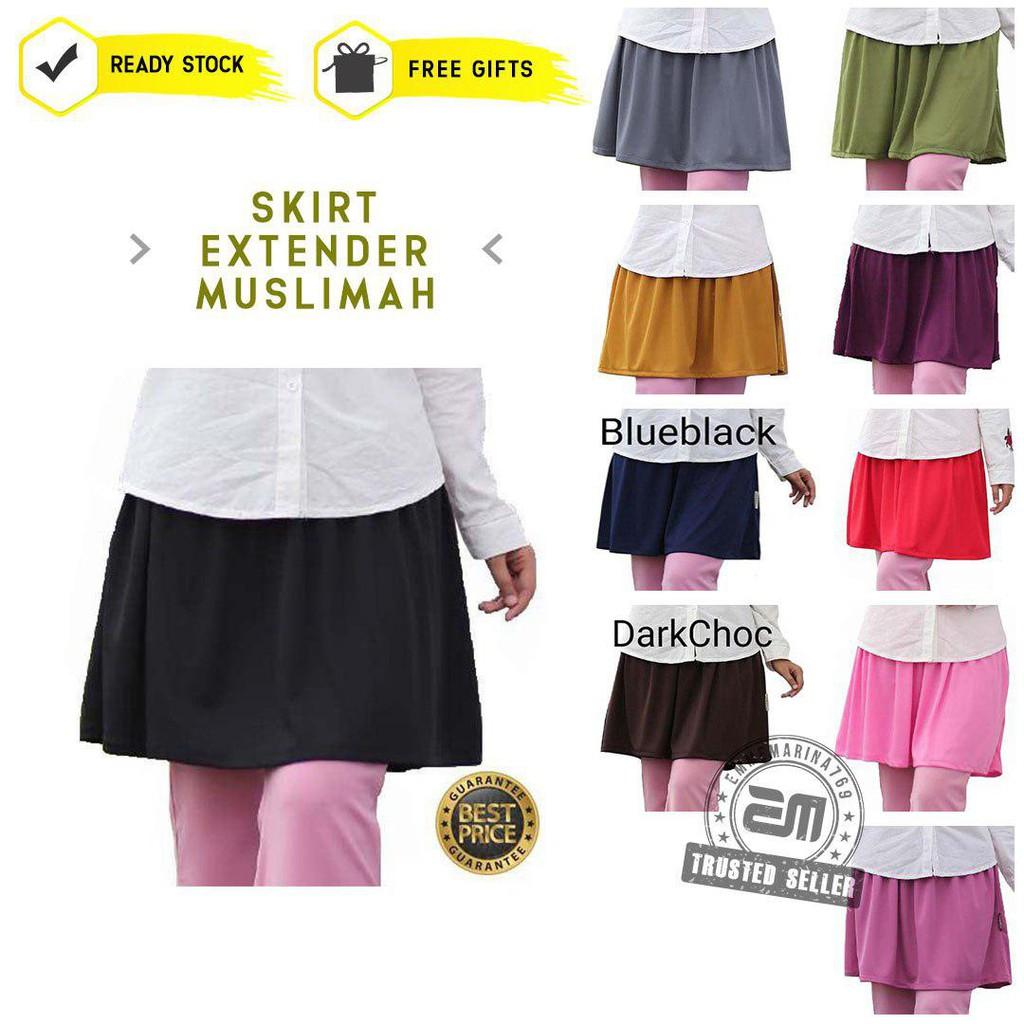 Borong Miniskirt Tutup Punggung Casual Sport Skirt Pendek Muslimah Fashion