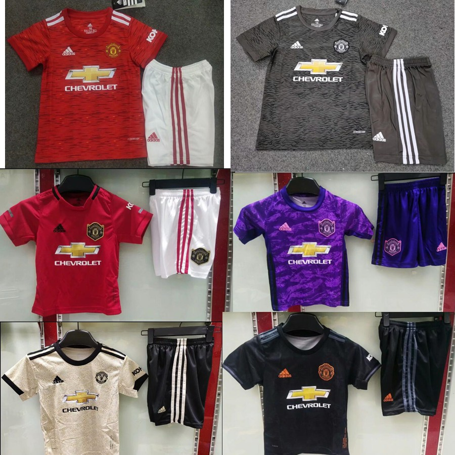 20 21 Top Quality New 2019 2020 Manchester United Home Red Soccer Jersey Kids Kits Shopee Malaysia