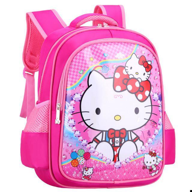 [ READY STOCK ]  Cartoon Frozen Elsa Kitty Primary School Bag Girl Boy Backpack Kid Baby Jualan Murah Travel Simpanan