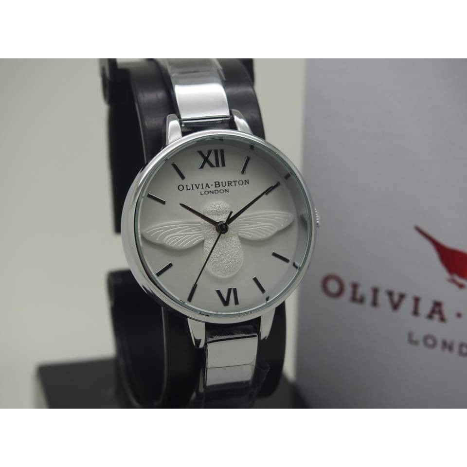 Olivia Burton Jam Tangan Wanita Luxury Daftar Harga Termurah Ori Bonia B796 3355 Stainless Steel Link Bracelet