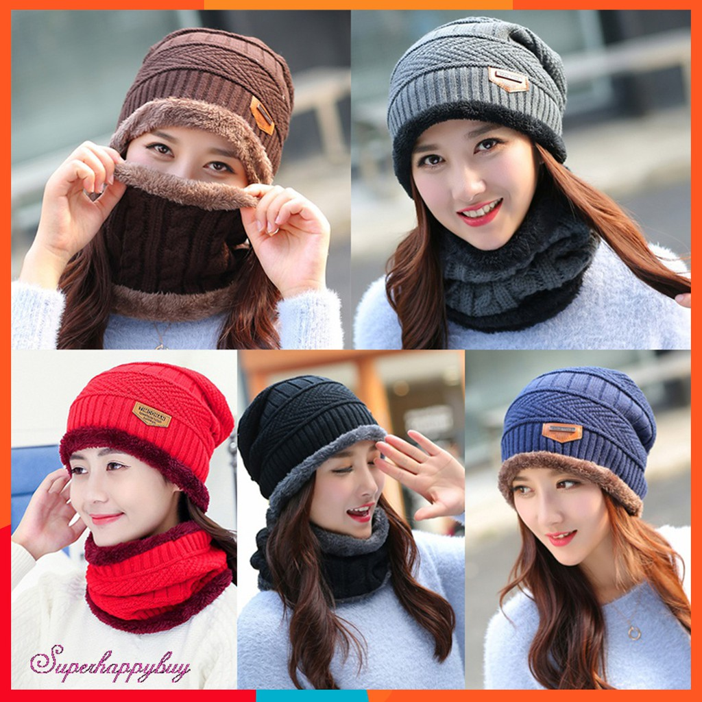 247cd2e8 ProductImage. ProductImage. 2pcs Unisex Winter Thicken Knitted Hats ...
