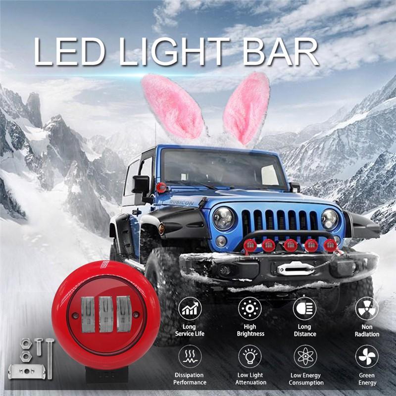 Durable 30W Spot LED Offroad Work Light Lamp 12V//24V Car Driving Fog Light DL