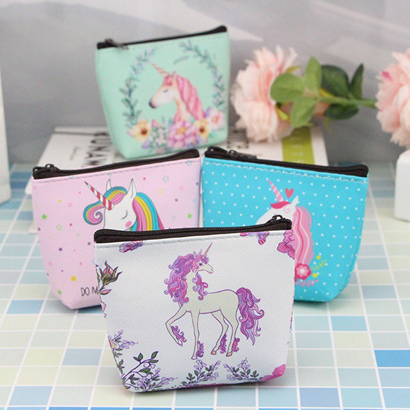Women Mini Elephant Coin Purse Flower Wallet Card Holder Coin Package Bags