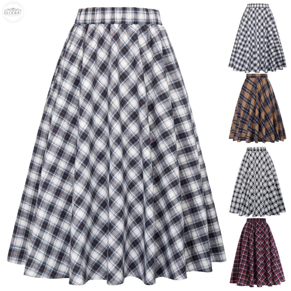791487474 Buttoned High Waisted A Line Skirt | Shopee Malaysia