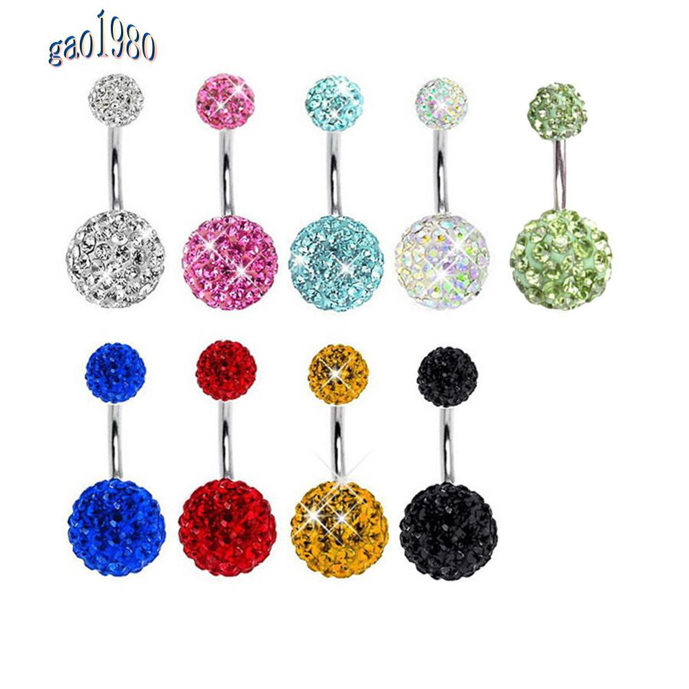 24x Clear Color Belly Navel Tongue Lip Rings Bars Studs Body Piercing Jewelry  I