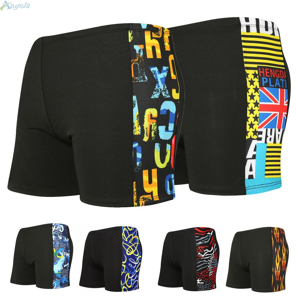 Move on Slim Fit Summer Man Drawstring Briefs Boxer Hot Spring Swimming Trunks