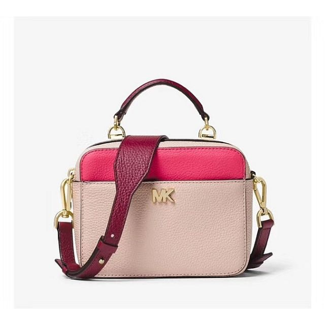 4dc52d2a844cd6 MICHAEL MICHAEL KORS Mott Mini Color-Block Pebbled Leather Crossbody |  Shopee Malaysia