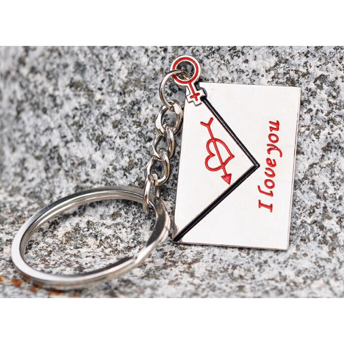Couple Keychain Creative Wedding Gift Envelope Mail Keychain Love Letter Props