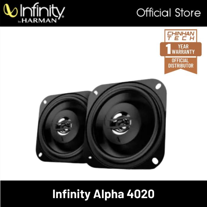 """Infinity Alpha 4020 4"""" (10cm) inch Two-Way Coaxial Car Speaker Peak Power 175Watts"""