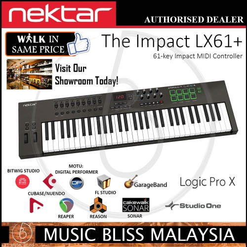 Nektar Impact LX61+ 61 Key Synth Action Keys Keyboard Controller