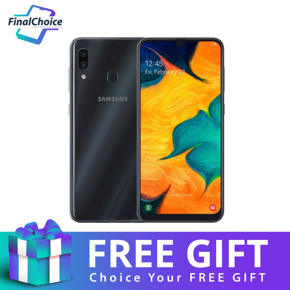 [Free Gift] Samsung Galaxy A30 (4GB+64GB) Original Samsung Malaysia Warranty