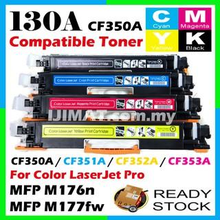 2c3b7ef5406d B/C/M/Y Compatible HP CF350A 130A Laserjet Pro M176 M176n M177 M177FW MFP  Toner