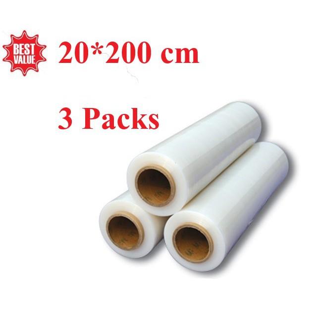 3 packs Vacuum rolls ถุงซีลสูญญากาศลายนูน 20*