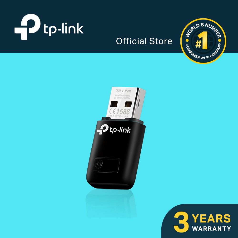 TP-Link 300Mbps Mini USB Wireless WiFi Adapter with Soft AP TL-WN823N