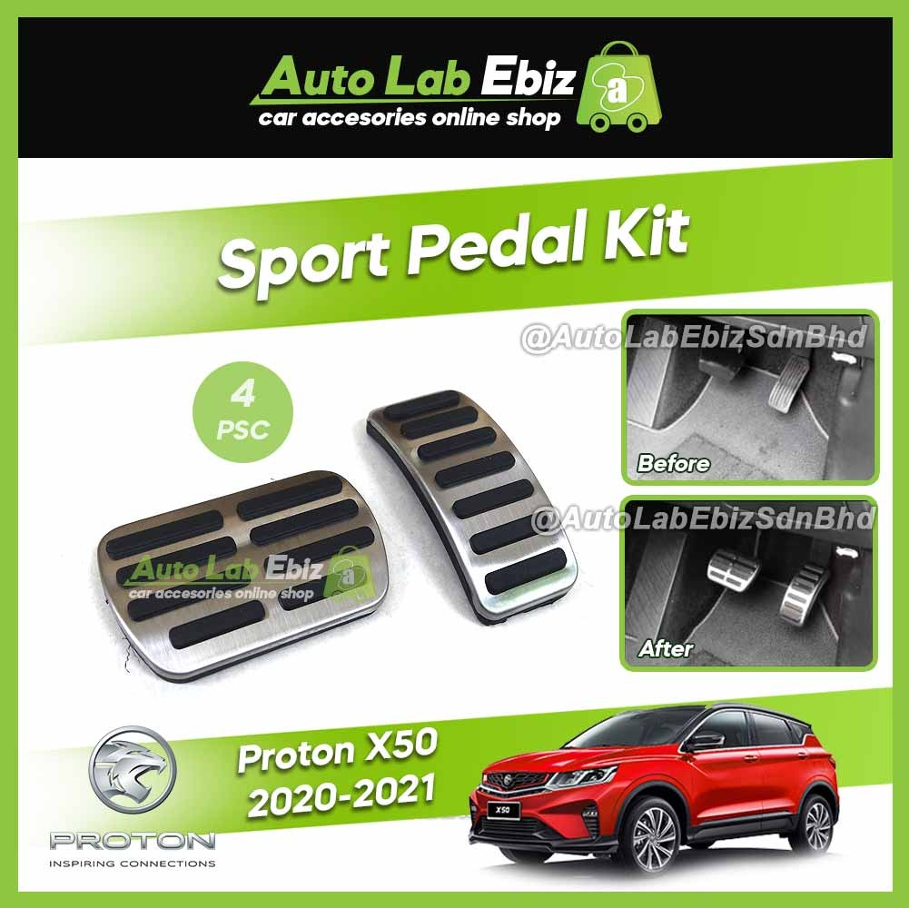 Proton X50 2020-2021 Sport Pedal Kit Cover Anti-slip Rubber with Stainless Steel