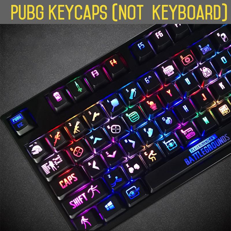 PUBG Backlight Cherry mx Mechanical 108 ANSI Thickened Edition Keyboard  KeyCaps