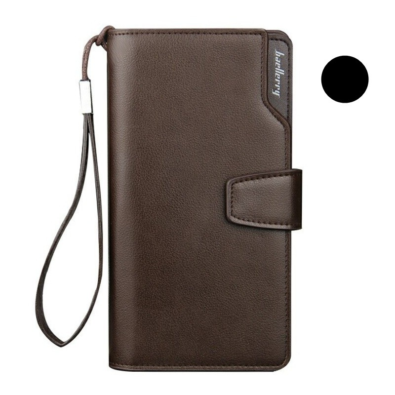 Curewe Kerien Men s Business Style Zipper Big Space Long Wallet ... 68b7c61f45