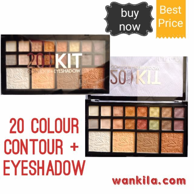 Eyeshadow +  contour 20 colour