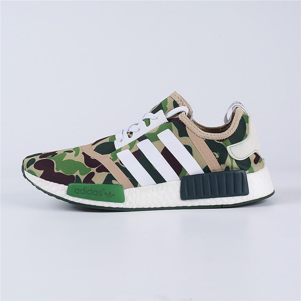sale retailer 5d35d 53614 Adidas NMD R1 camouflage military green BAPE X Adidas ape