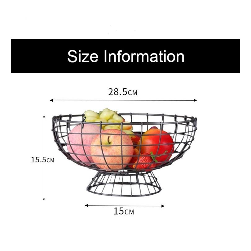 [ READY STOCK ]  Iron Creative Simple Modern Iron Fruit Basket Fruit Snacks Bread Storage Kitchen Simpanan Jualan Murah