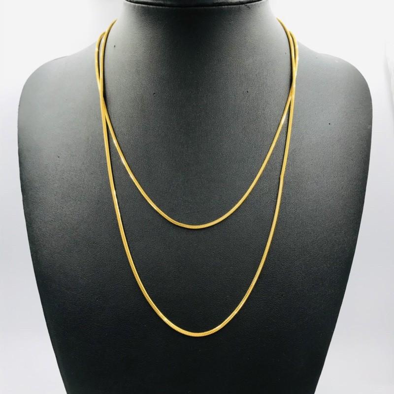 Rantai Leher Masdora Padu/Masdora Gold Necklace (Emas 916)