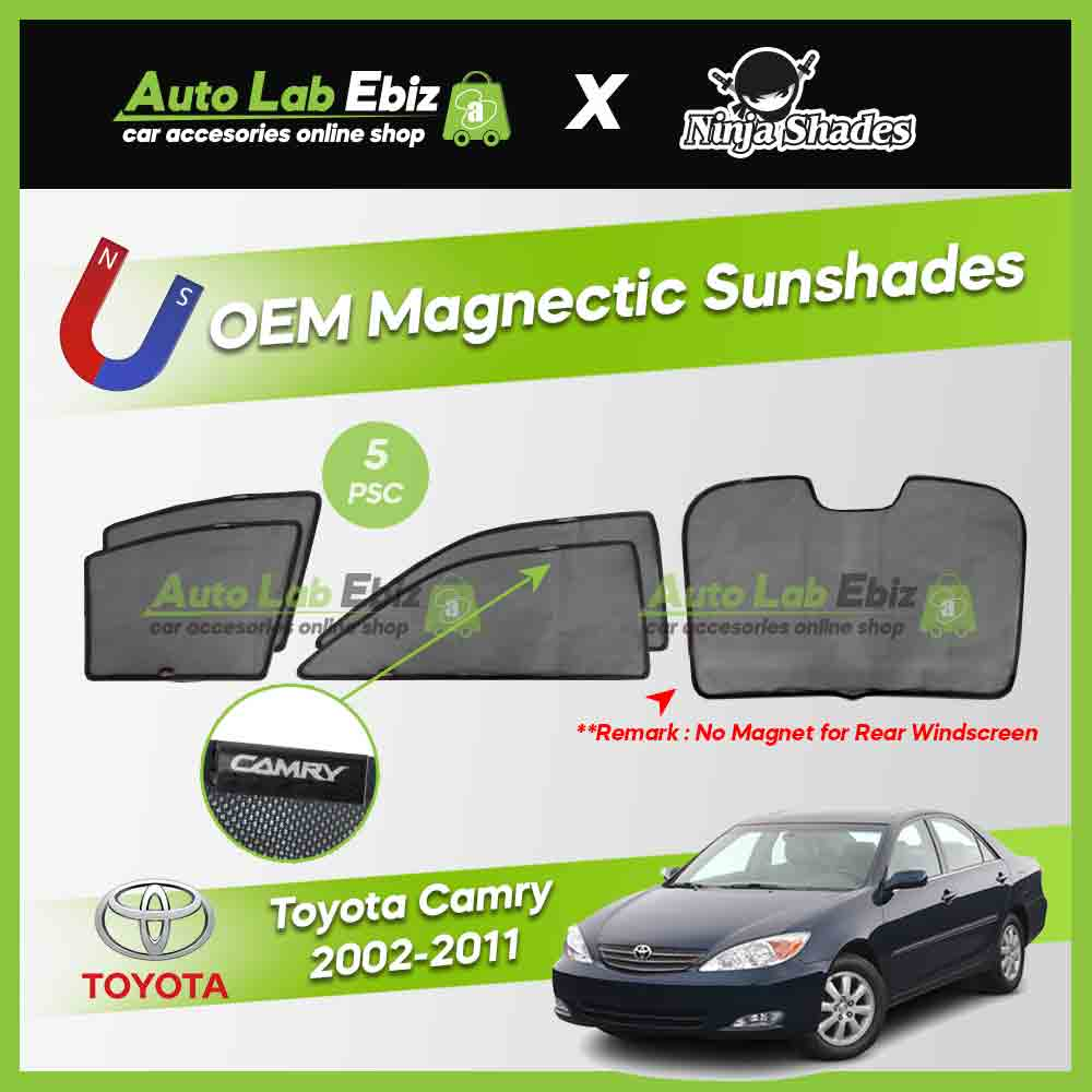 Toyota Camry XV40 2006-2011 Ninja Shades OEM Magnetic Sunshade (5pcs)