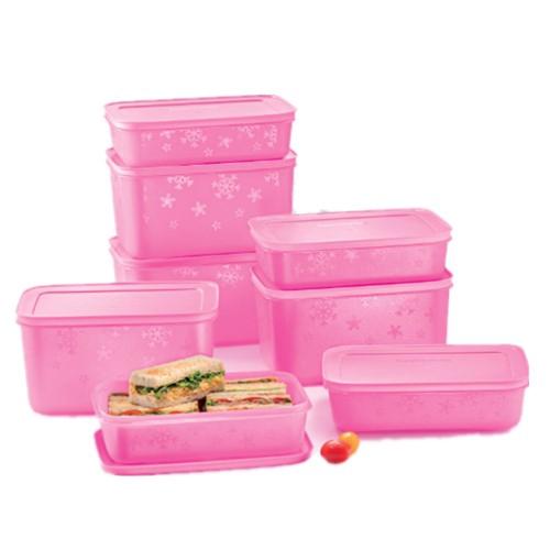 Tupperware Chill-Freez Medium Set (8) 1L/2.5L Purple/Pink
