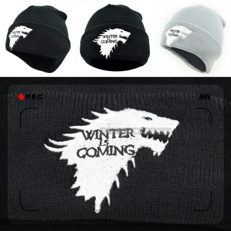 a63d1dd9a3e Knitted Beanie Dire Wolf Game Of Thrones Winter is Coming