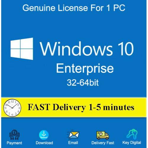 WINDOWS 10 Enterprise 32/64 BIT WIN OEM GENUINE LICENSE ORIGINAL ACTIVATION  KEY