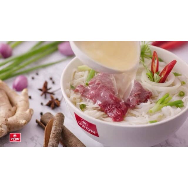 VIETNAM INSTANT PHO WITH (BEEF FLAVOUR) Pho Bo VIFON 5 PACKETS