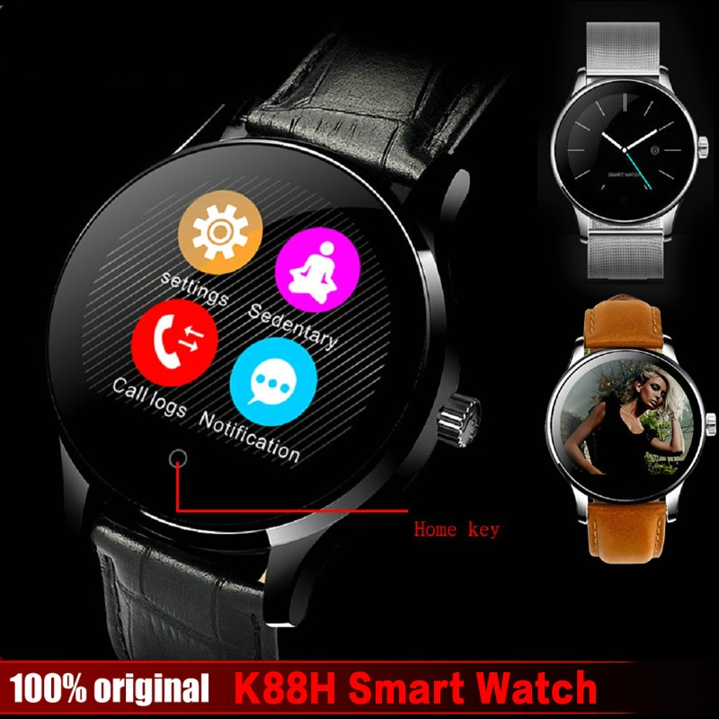 K88H Smart Watch 1 22 Inch IPS Round Screen Support Sport Heart Rate  Monitor Bluetooth SmartWatch For IOS Android