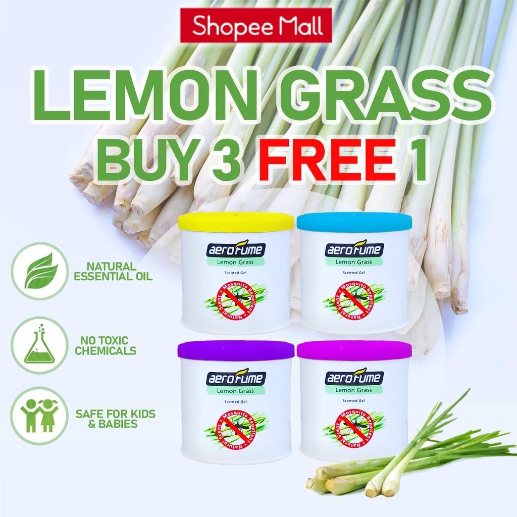 Aerofume Lemon Grass Scented Gel Mosquito Repellent (70g)  BUY 3 FREE 1 Fragrance