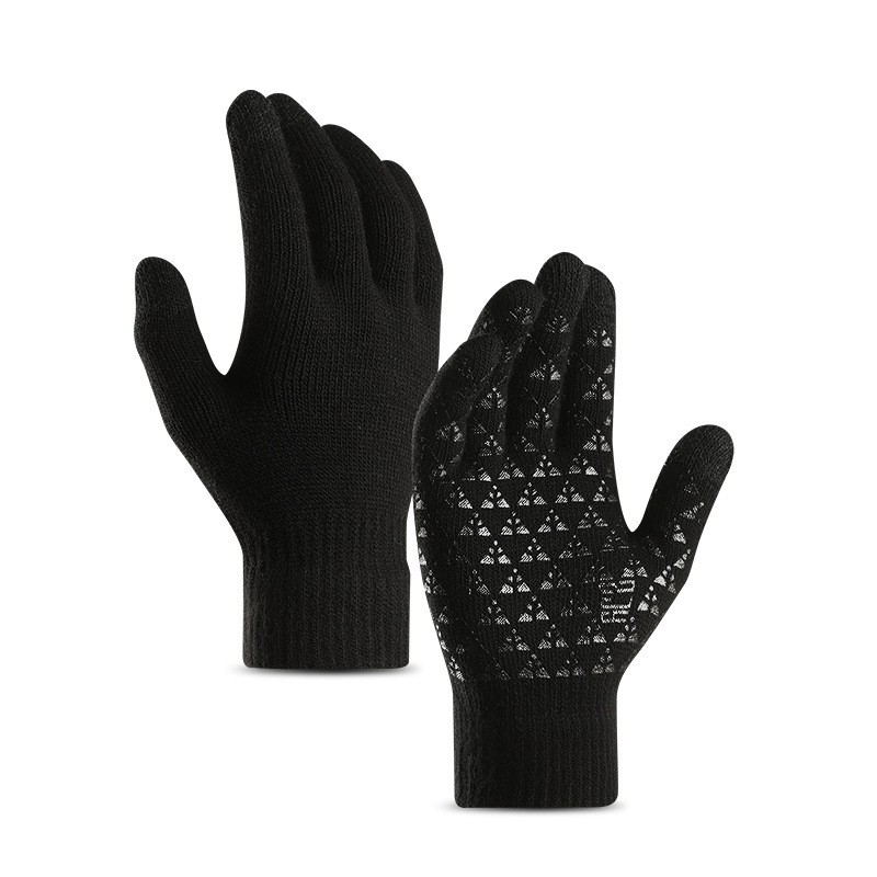 Men's Gloves Touchscreen New Autumn Winter Black Blue Brown Gray Wrist Gloves Korean Style Warm Gloves Include Cashmere Mens Kinitted Gloves To Have A Unique National Style