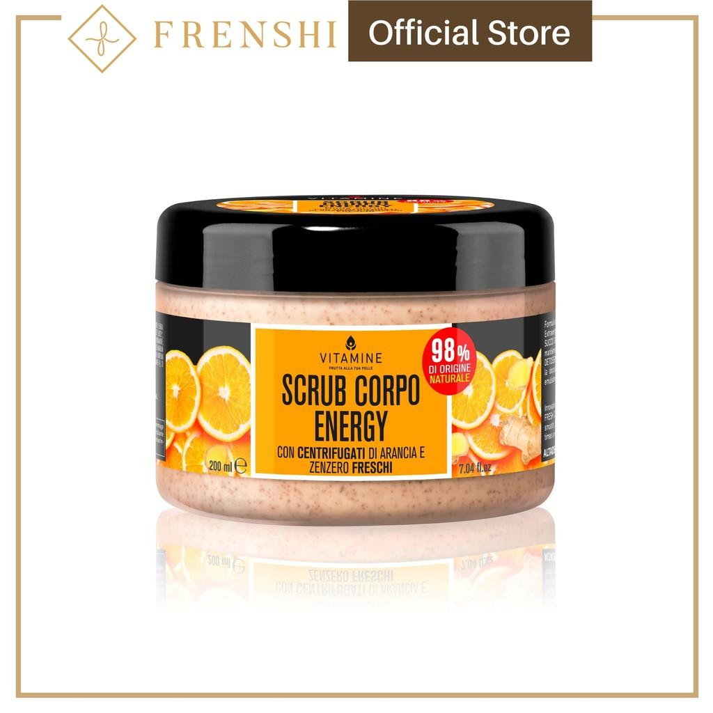 FRENSHI L'ERBORISTICA ( MADE IN ITALY ) - ENERGY BODY SCRUB ORANGE AND GINGER with Fresh Centrifuged Fruit Juice 200 ml
