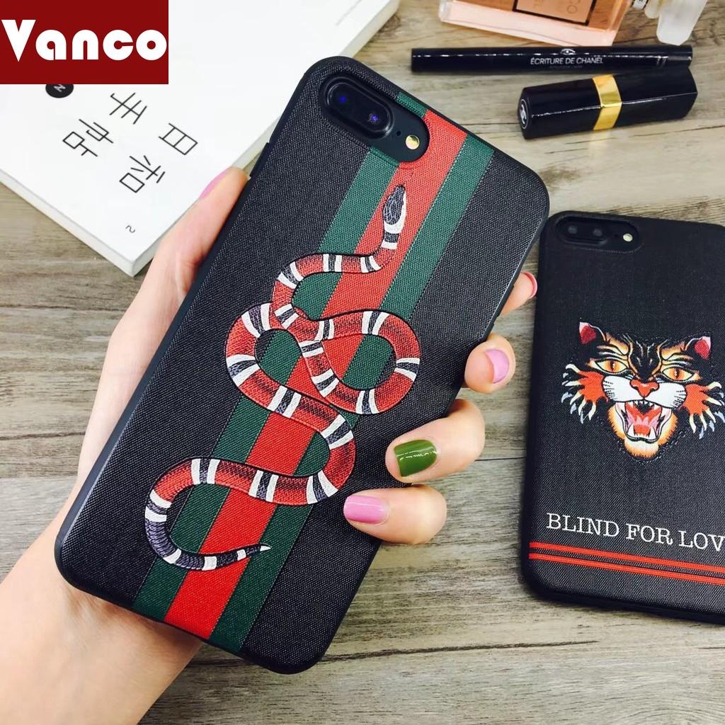 selezione migliore 9a4f3 1f97f Gucci Snake Tiger Relief Soft Case For IPhone 6 6s 7 8 Plus X Xs ...