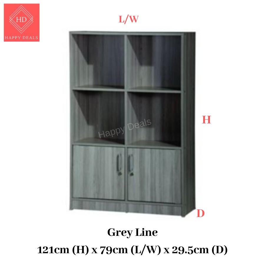 DIY Premium Multipurpose Multi-compartments Storage Cabinet/ File Cabinet/ Rak Buku/ Rak Simpanan 书橱 储物柜 衣橱 (SU 831D)