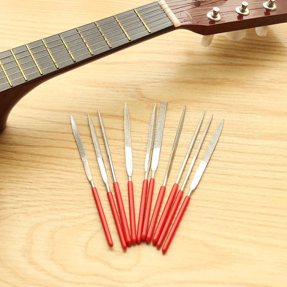 Alert Guitar Luthier Tool Includes Guitar Fret Crowning Luthier File Fret Rocker Leveling Tool 2 Pcs Fingerboard Guard Sanding Paper Stringed Instruments